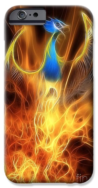 Dragon iPhone 6s Case - The Phoenix Rises From The Ashes by John Edwards