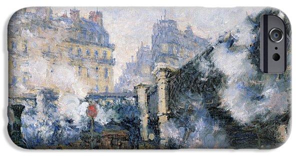 The Pont De Leurope Gare Saint Lazare IPhone Case by Claude Monet