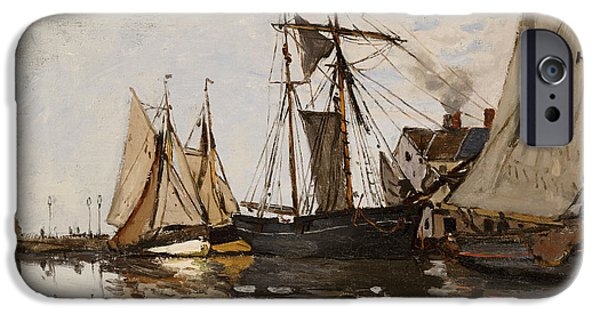 The Port Of Honfleur IPhone Case by Claude Monet