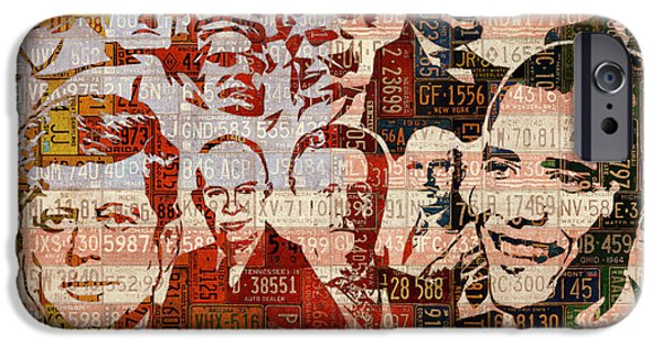 The Presidents Past Recycled Vintage License Plate Art Collage IPhone 6s Case by Design Turnpike