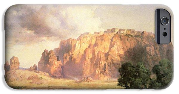 The Pueblo Of Acoma In New Mexico IPhone Case by Thomas Moran