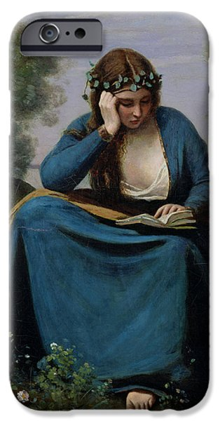 The Reader Crowned With Flowers IPhone 6s Case by Jean Baptiste Camille Corot