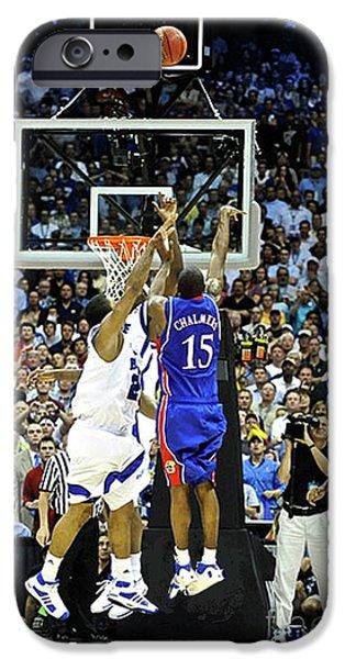 Larry Bird iPhone 6s Case - The Shot, 3.1 Seconds, Mario Chalmers Magic, Kansas Basketball 2008 Ncaa Championship by Thomas Pollart
