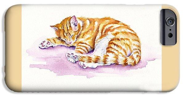 Cat iPhone 6s Case - The Sleepy Kitten by Debra Hall
