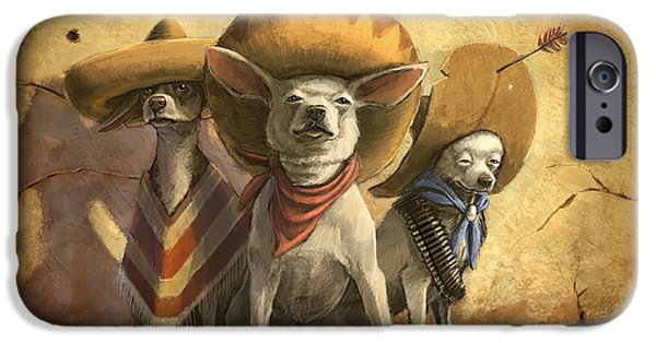 Mammals iPhone 6s Case - The Three Banditos by Sean ODaniels