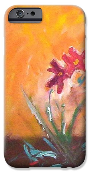 IPhone 6s Case featuring the painting The Three Daisies by Winsome Gunning
