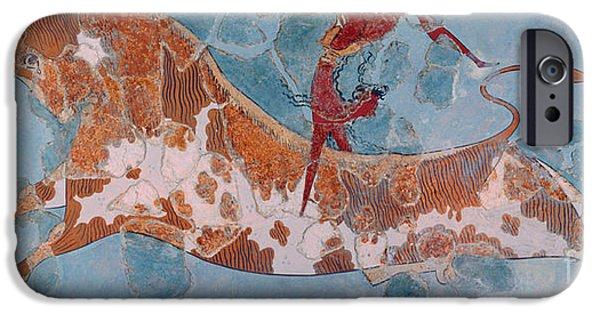 The Toreador Fresco, Knossos Palace, Crete IPhone 6s Case by Greek School