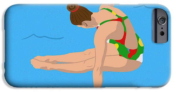 Swimming iPhone 6s Case - The Triple Twist by Nicole Wilson