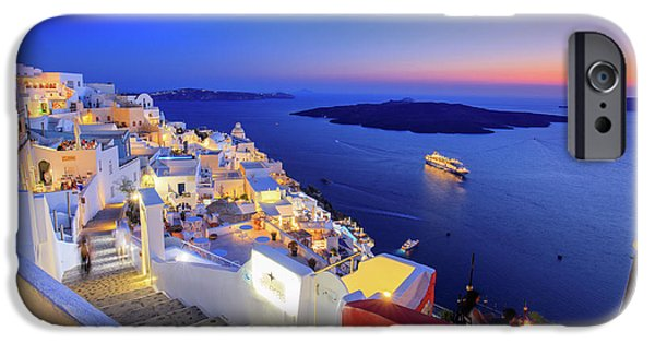 Cruise Ship iPhone 6s Case - Thera Sunset  by Emmanuel Panagiotakis