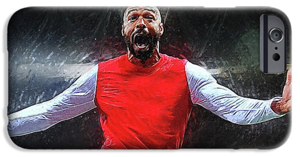Thierry Henry IPhone 6s Case by Semih Yurdabak