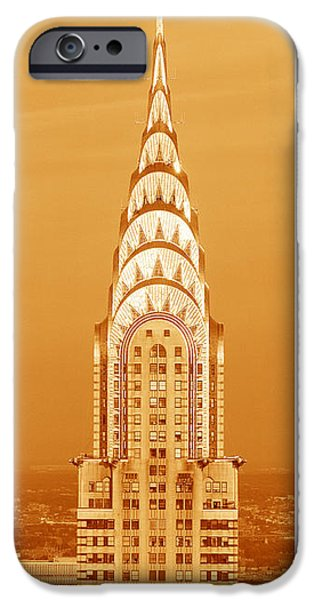 Central Park iPhone 6s Case - Chrysler Building At Sunset by Panoramic Images