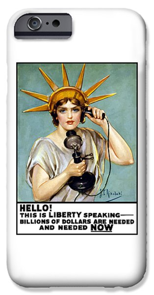 Statue Of Liberty iPhone 6s Case - This Is Liberty Speaking - Ww1 by War Is Hell Store