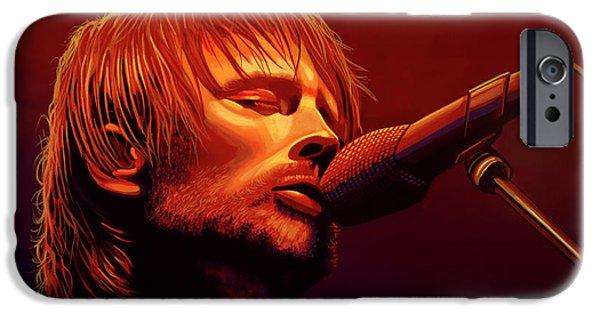 Drum iPhone 6s Case - Thom Yorke Of Radiohead by Paul Meijering