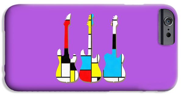 Three Guitars Modern Tee IPhone 6s Case by Edward Fielding