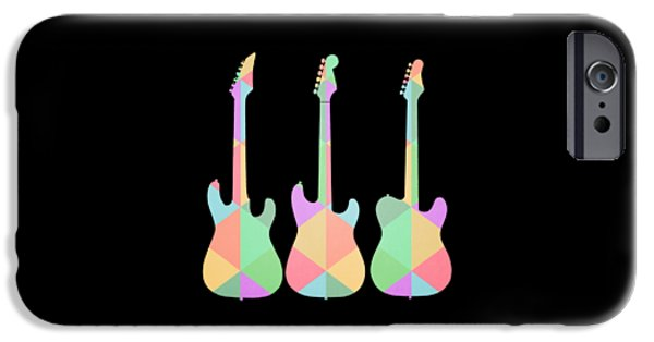 Three Guitars Triangles Tee IPhone 6s Case by Edward Fielding