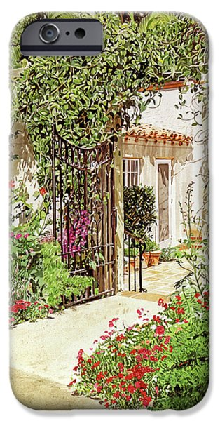 Beverly Hills iPhone 6s Case - Through The Garden Gate by David Lloyd Glover