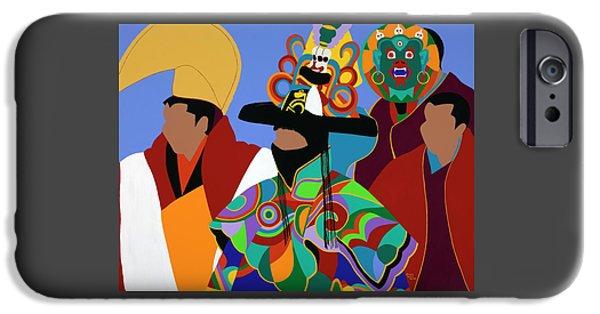 iPhone 6s Case - Tibetan Monks Cham Dancer by Synthia SAINT JAMES
