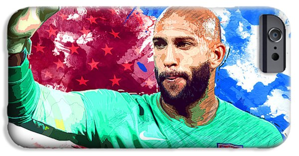 Landon Donovan iPhone 6s Case - Tim Howard by Semih Yurdabak