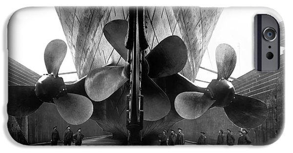 Cruise Ship iPhone 6s Case - Titanic Propellers by Jon Neidert