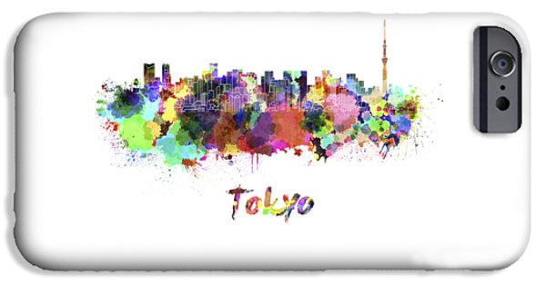 Tokyo V2 Skyline In Watercolor IPhone 6s Case by Pablo Romero