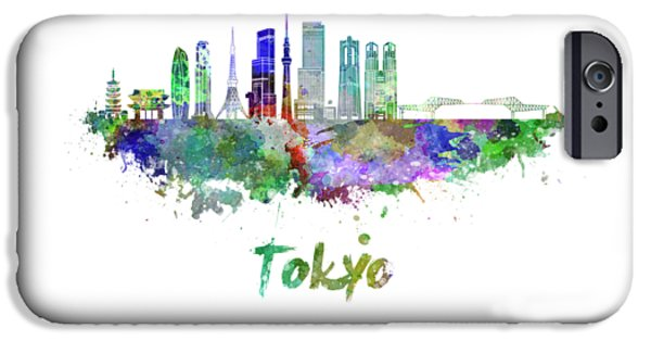 Tokyo V3 Skyline In Watercolor IPhone 6s Case by Pablo Romero