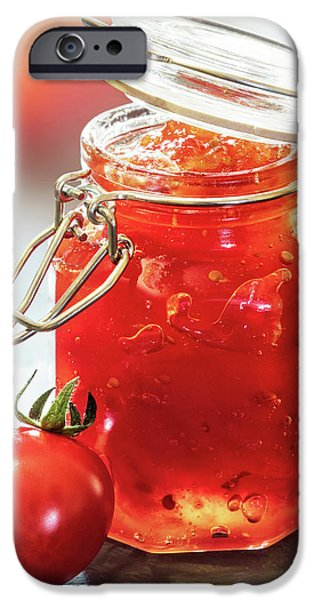 Tomato iPhone 6s Case - Tomato Jam In Glass Jar by Johan Swanepoel
