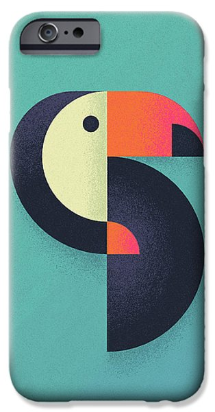 Toucan iPhone 6s Case - Toucan Geometric Airbrush Effect by Ivan Krpan