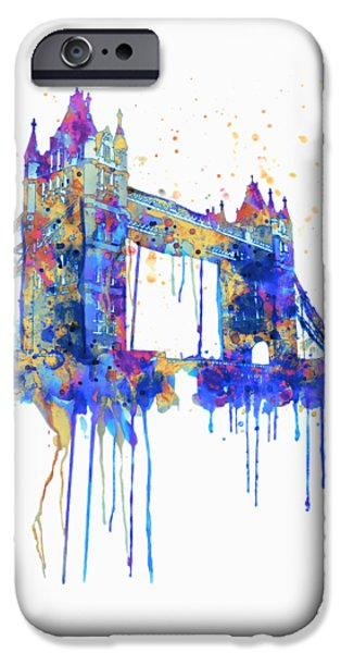 Tower Bridge Watercolor IPhone 6s Case by Marian Voicu