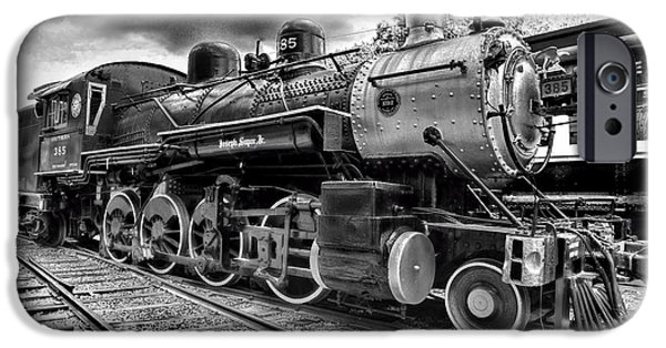 Train iPhone 6s Case - Train - Steam Engine Locomotive 385 In Black And White by Paul Ward