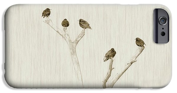 Treetop Starlings IPhone 6s Case by Benanne Stiens