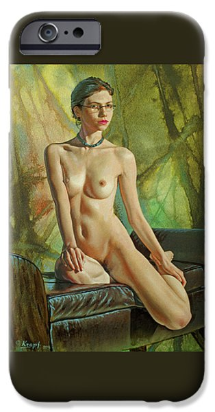 Nudes iPhone 6s Case - Trisha 235 In Abstract by Paul Krapf