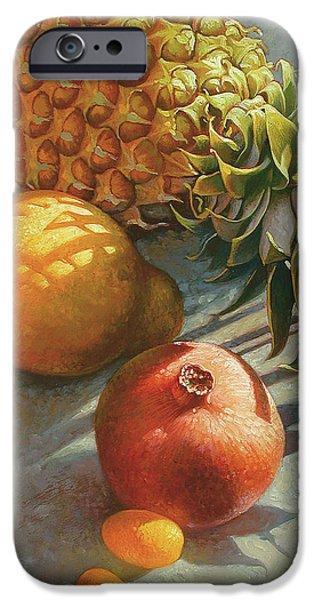 Pineapple iPhone 6s Case - tropical Fruit Large by Mia Tavonatti