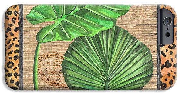 Cheetah iPhone 6s Case - Tropical Palms 1 by Debbie DeWitt