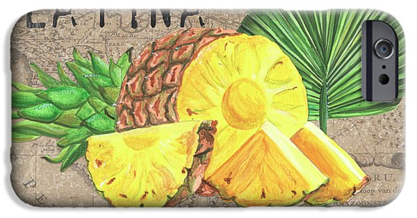 Pineapple iPhone 6s Case - Tropical Palms 5 by Debbie DeWitt