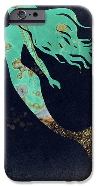 Mermaid iPhone 6s Case - Turquoise Mermaid by Mindy Sommers