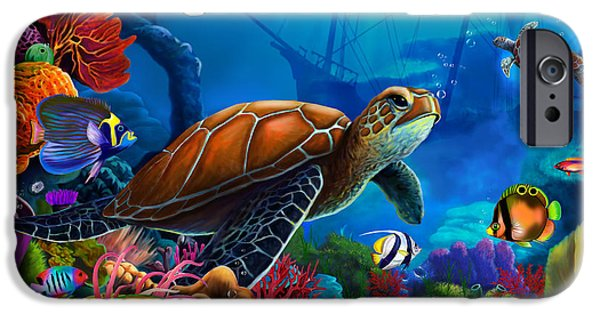 Scuba Diving iPhone 6s Case - Turtle Domain by MGL Meiklejohn Graphics Licensing