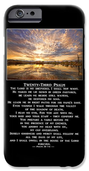 Twenty-third Psalm Prayer IPhone 6s Case by James BO  Insogna