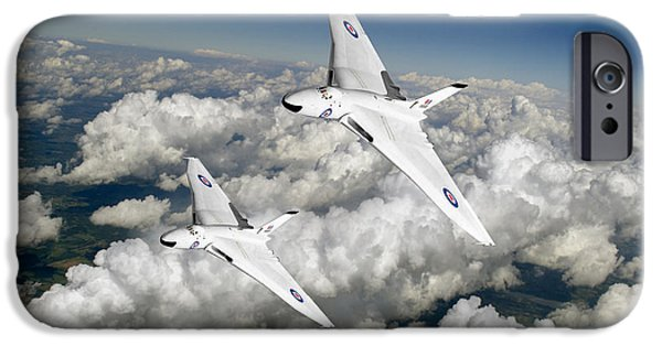 IPhone 6s Case featuring the photograph Two Avro Vulcan B1 Nuclear Bombers by Gary Eason