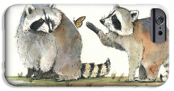 Two Raccoons IPhone 6s Case by Juan Bosco