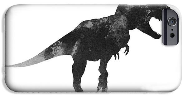 Tyrannosaurus Figurine Watercolor Painting IPhone 6s Case by Joanna Szmerdt