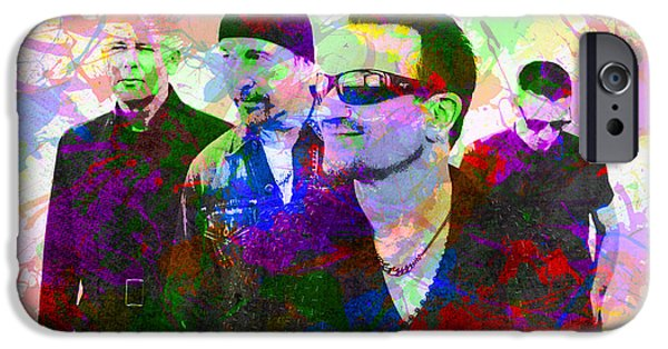 U2 Band Portrait Paint Splatters Pop Art IPhone 6s Case by Design Turnpike