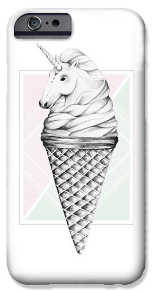 Unicorn iPhone 6s Case - Unicone by Barlena