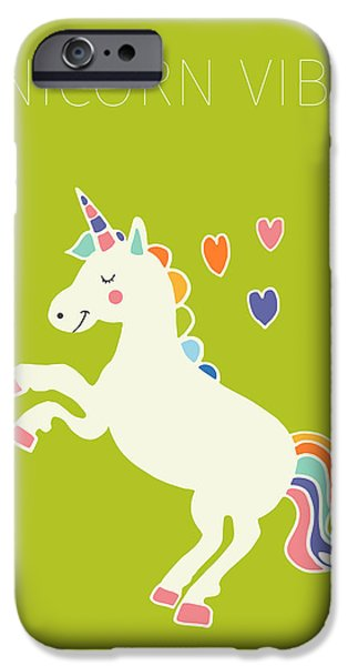 Unicorn Vibes IPhone 6s Case by Nicole Wilson