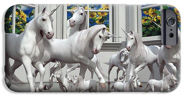 Unicorns IPhone 6s Case by Betsy Knapp