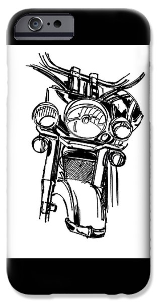 Urban Drawing Motorcycle IPhone 6s Case by Chad Glass