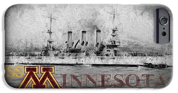 Uss Minnesota IPhone 6s Case by JC Findley