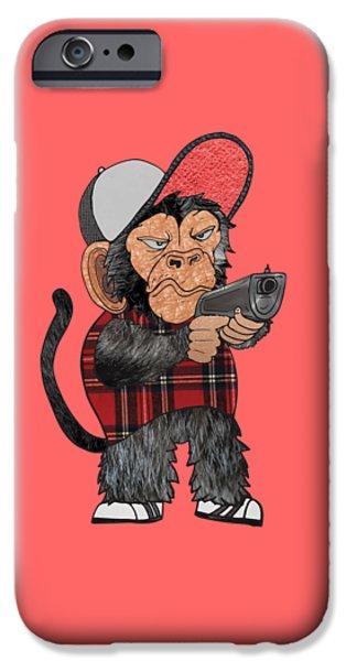Vato Monkey IPhone Case by Daniel Adams