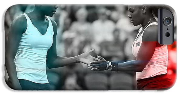 Venus Williams iPhone 6s Case - Venus Williams And Serena Williams by Marvin Blaine