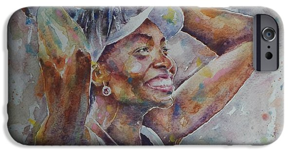 Venus Williams iPhone 6s Case - Venus Williams - Portrait 1 by Baris Kibar