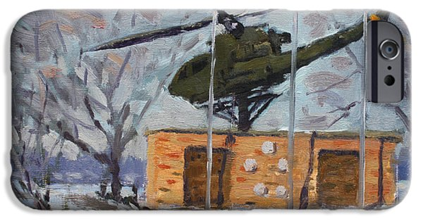 Helicopter iPhone 6s Case - Veterans Memorial Park In Tonawanda by Ylli Haruni